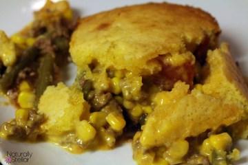 Cheesy Cornbread Casserole | Naturally Stellar