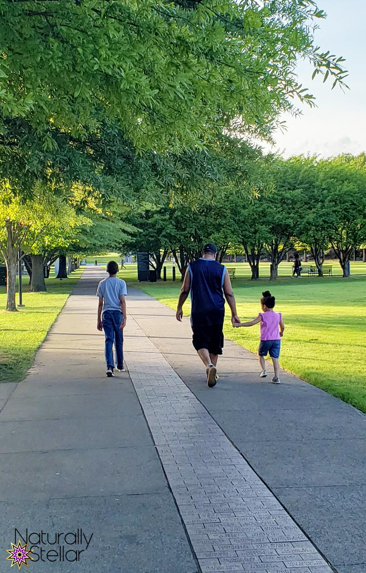 Keeping Family Time Simple This Summer - Walking with Dad | Naturally Stellar