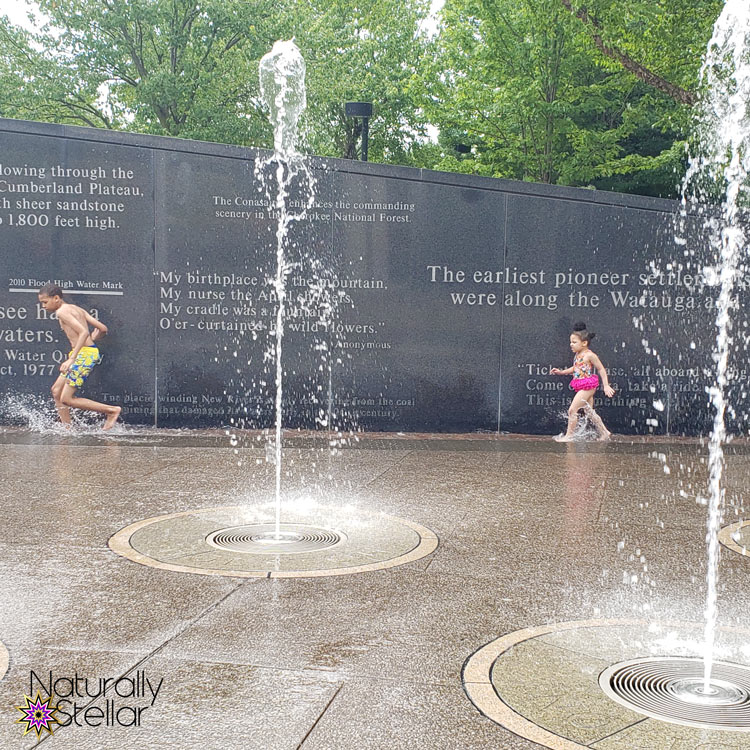 Summer Fun In The City with Mazda CX-9 - Rivers of Tennessee Fountain | Naturally Stellar