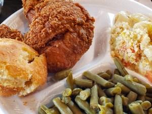 Fried Chicken Dinner Bishops Meat and Three | Naturally Stellar