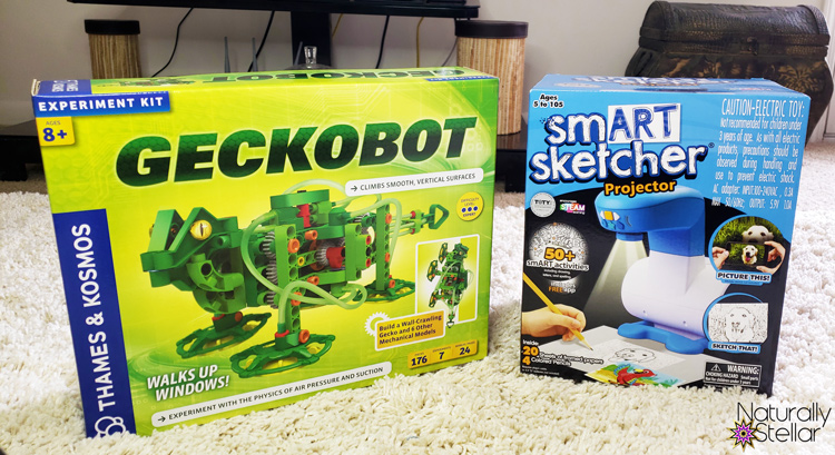 STEM and STEAM activities to keep kids busy. Geckobot and Smart Sketcher| Naturally Stellar