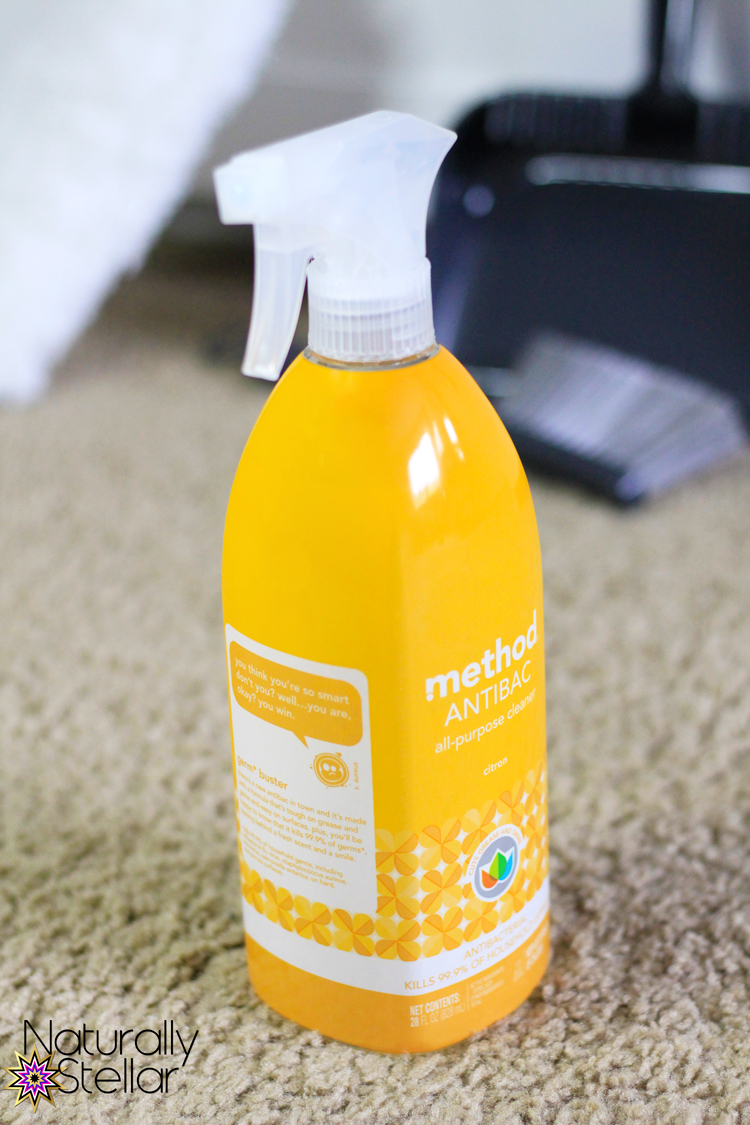 The perfect supplies for a quick clean. Naturally Stellar