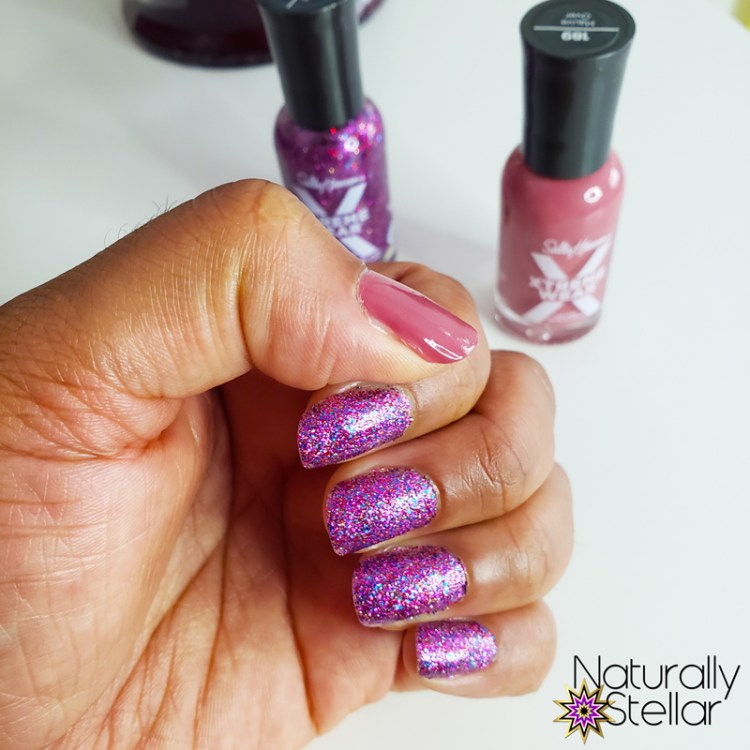 Sally Hansen Manicure on Natural Nails - Naturally Stellar