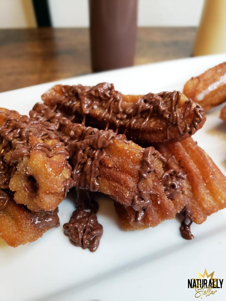 Have fun making churros at home with San Diablo take and bake kits - Nutella topping   Naturally Stellar