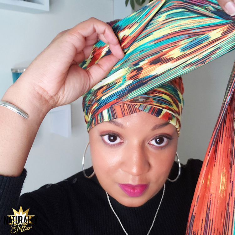 Simple and easy one piece headwraps tutorial | Naturally Stellar https://naturallystellar.com