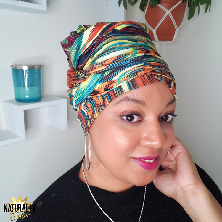 Style your headwrap. How to tie a one piece headwrap. Simple and easy tutorial | Naturally Stellar https://naturallystellar.com