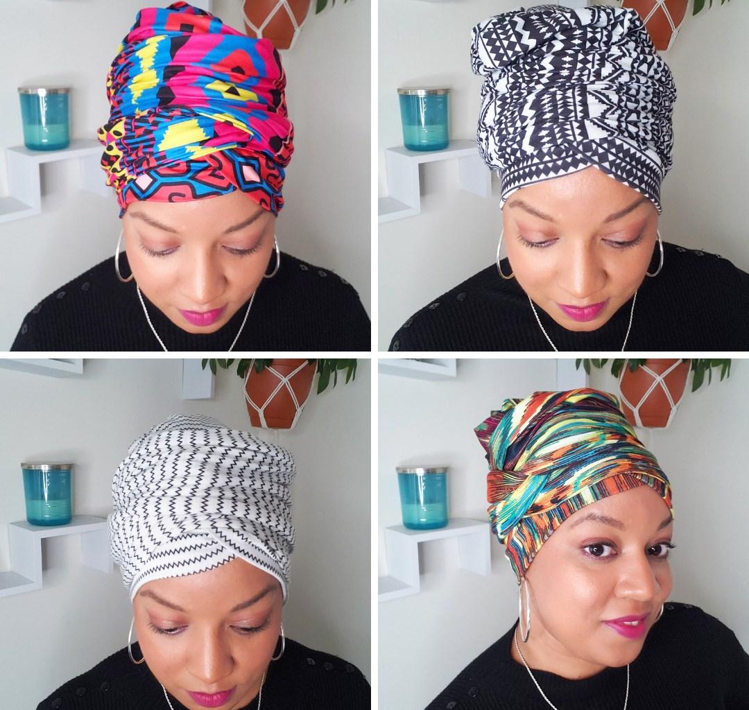 Four quick headwrap styles