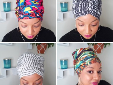 Four quick headwrap styles