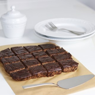 Chocolate zucchini paleo brownies
