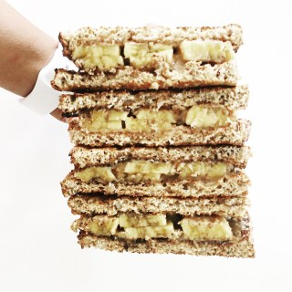 Almond Butter & Banana Sandwich