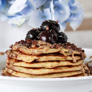 Paleo Choc Cherry Pancakes