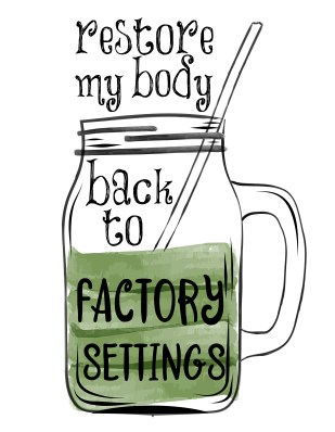 Detox artwork to show how body detoxification services offered by Naturally. . . You help restore good health.