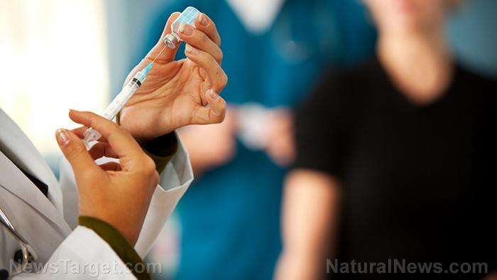"""圖片:疫苗行業現在推出使用100微針針對您的身體施用有毒化學物質的疫苗""""補丁"""""""