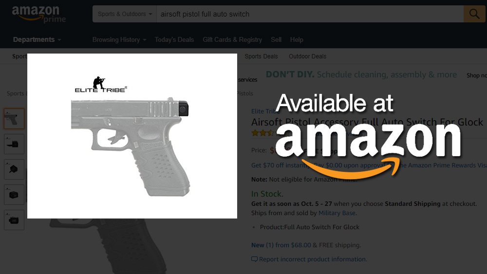 Image: Amazon.com caught selling illegal FULL AUTO gun parts in ATF sting to convict its own customers with felony crimes