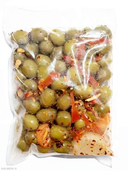 Набір для солянки Зелені оливки без кісточки та Змішані овочі , 560г сухой.в, Пет пакет (71341)