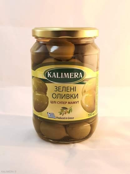 KALIMERA Супер Маммут 91-100 Зелені оливки з кісткою 720 мл 420г.св
