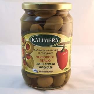 KALIMERA Колоссаль 121-140 фаршировані червоним перцем 720 мл 420г.св