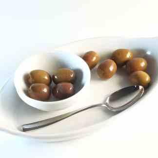 Натуральные бури маслины Амфисис с косточкой 560г 261 -290 Superior в морській солі ПЕТ-пакетик 70331