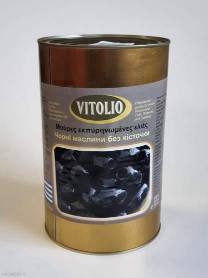 VITOLIO Чорні маслини без кісточки Mammoth 101-110, 4.65/с.в.2kg 51507