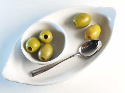 Халкидикис Зелені оливки без кісточки в морській солі 450г калибр S.Mamouth 91-100 70471