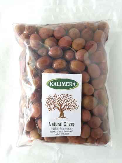 Селянські мармурові смарагдові оливки з кісточкою в морській солі ПЕТ-пакетик 560г с.в. Superior 261-290 70551