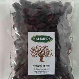Маслины Каламатас вяленые Вакуум. пакет / 560г сухой вес калибр Jumbo 181-200 70491
