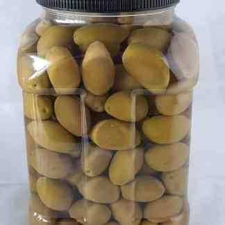 Амфисис Зелені оливки з кісточкою в морській солі 3л ПЭТ-банка 1.9кг с.в. калибр Giants 141-160 70575
