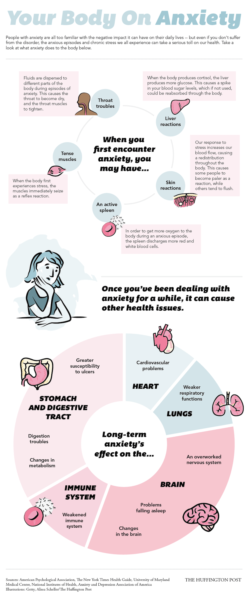 14 Side Effects Of Anxiety Infographic