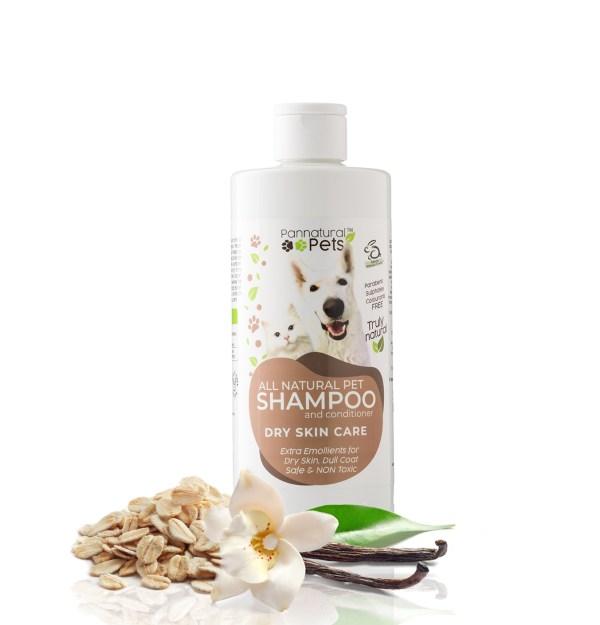 Pannatural Pets natural oatmeal & aloe - vanilla pet shampoo for dry or irritated skin