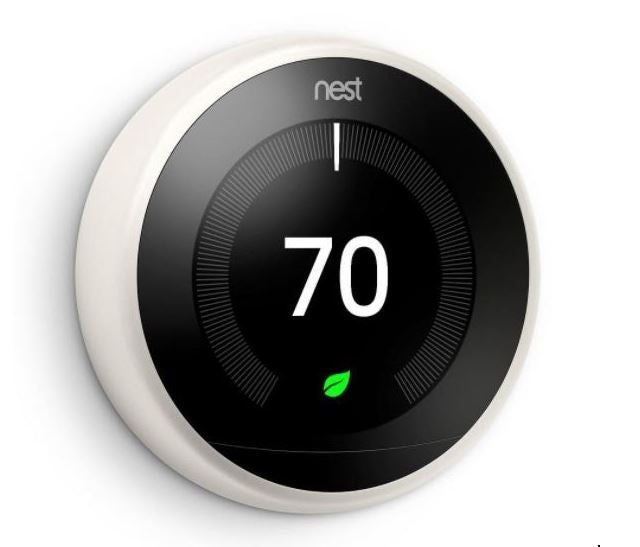 nest learning thermostat set to 70 degrees F