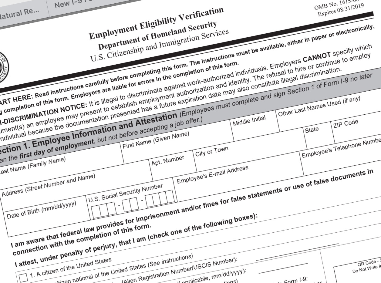 Employers Must Now Use Updated I 9 Form Natural Resource Report
