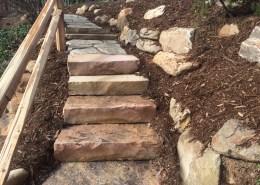 Stone slab stairs