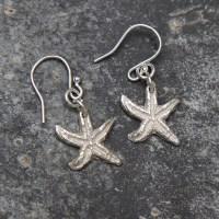 Starfish Earrings | Natural Silver