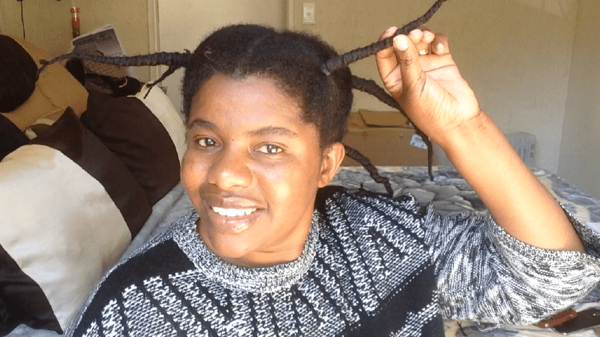 African Threading to stretch natural hair