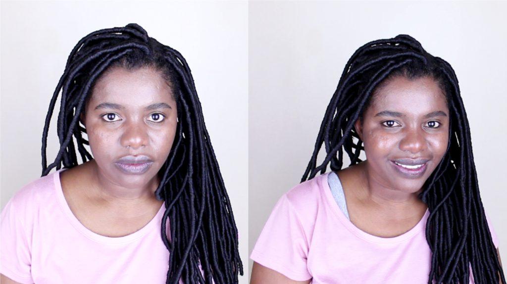 Brazilian Wool Faux Locks on natural hair