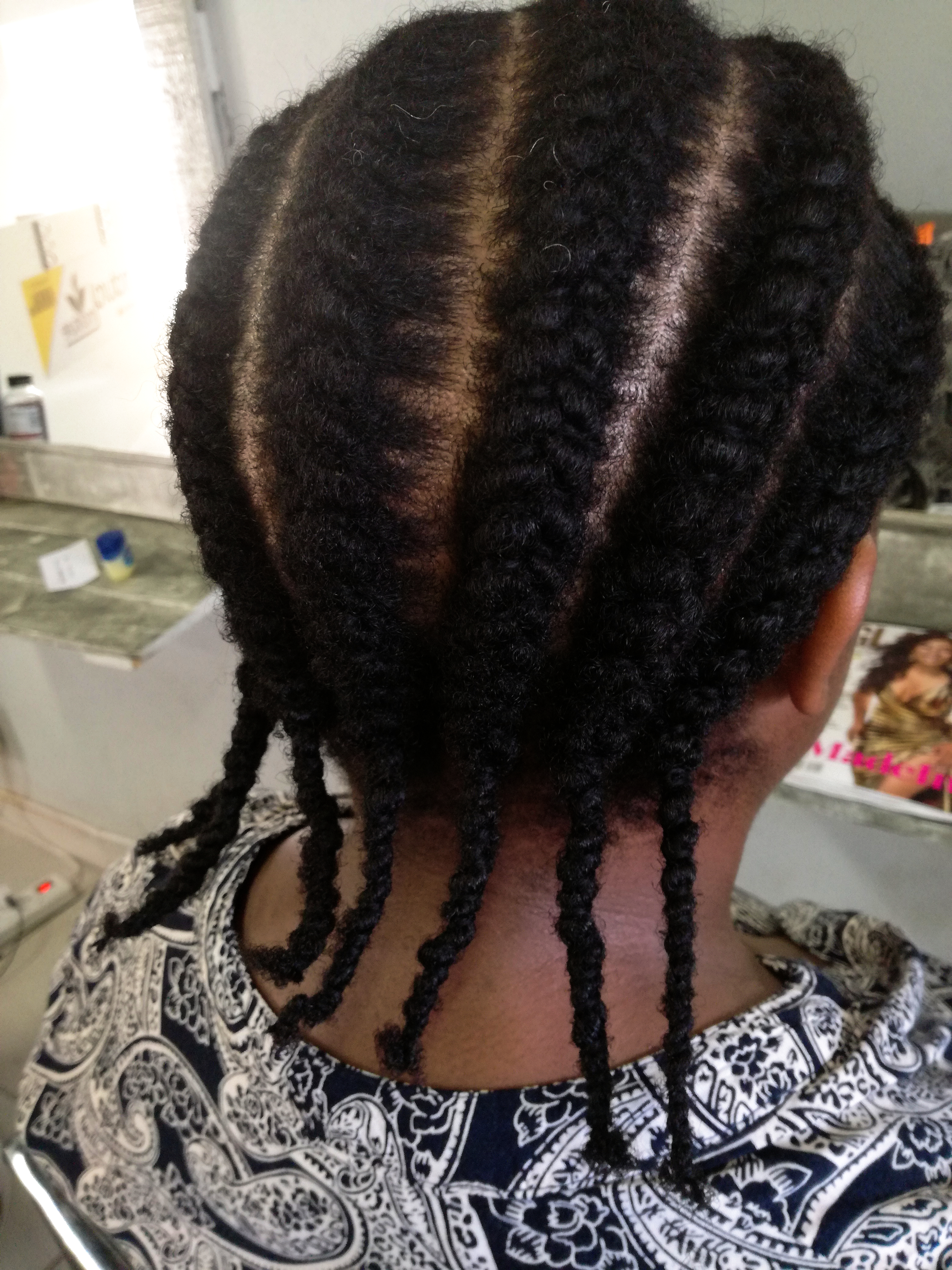 Needle and Thread Cornrows  Natural Sisters  South African Hair Blog