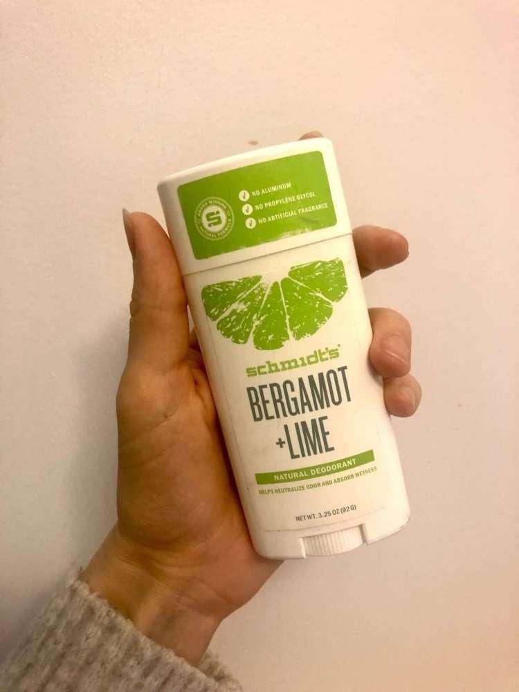 schmidt's deodorant review bergamot + lime