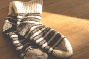 Warme Wollsocken ein MUSS bei Harninkontinenz