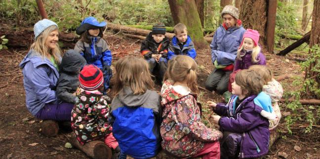 Flow Learning in a Forest Kindergarten  Natural Start