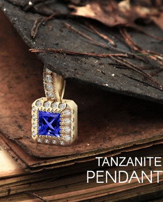 tanzanite pendants white gold
