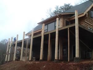 Solid Log Construction