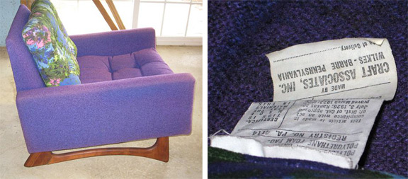 Adrian Pearsall Chair Flexsteel Gondola Style Sofa