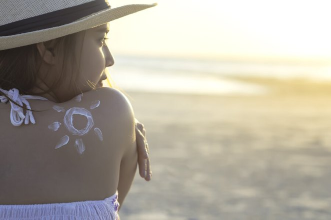 Young-Woman-Sunblock-Sun Safety
