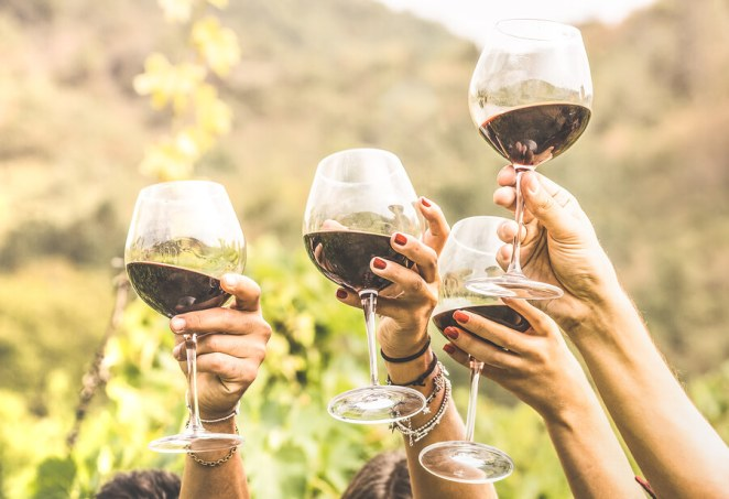 Lose weight red wine