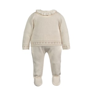 Knitted Outfit Set for Newborns