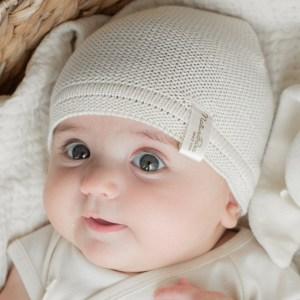Gestrickte Baby-Mütze
