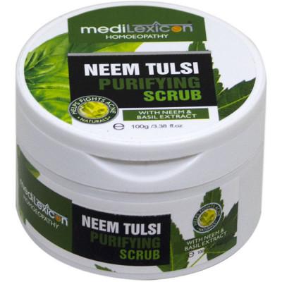 Medilexicon Neem Tulsi Scrub 100G Natura Right