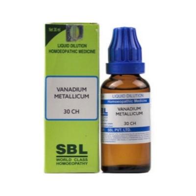 Sbl Vanadium Metallicum 30 Ch 30Ml Natura Right