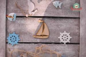 Fából készült vitorláshajó