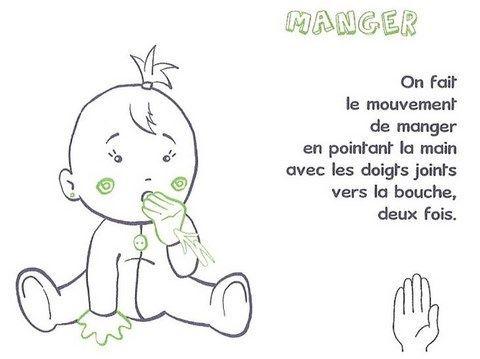Langue de signe pour bébé - manger